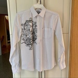 191 Unlimited Pinstripe Paisley Shirt